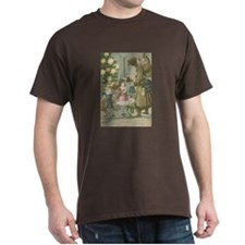 St. Nick with Children Dark T-Shirt