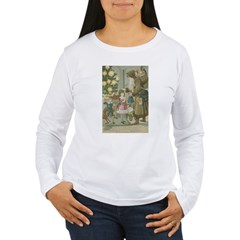 St. Nick with Children Women's Long Sleeve T-Shirt