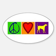 Peace Love Yellow Labs - Oval Decal