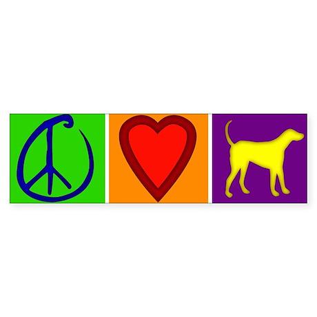 Peace Love Yellow Labs - Bumper Sticker