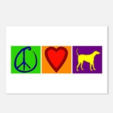 Peace Love Yellow Labs - Postcards (Package of 8)