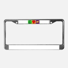 Peace Love Yellow Labs - License Plate Frame