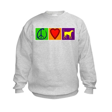 Peace Love Yellow Labs - Kids Sweatshirt