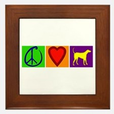 Peace Love Yellow Labs - Framed Tile