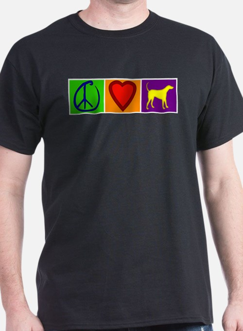 Peace Love Yellow Labs - T-Shirt