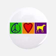 "Peace Love Yellow Labs - 3.5"" Button"