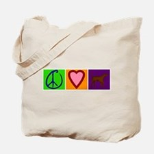 Peace Love Chocolate Labs - Tote Bag