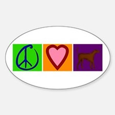 Peace Love Chocolate Labs - Oval Decal