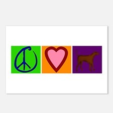Peace Love Chocolate Labs - Postcards (Package of
