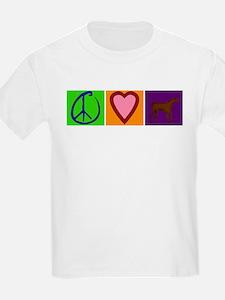 Peace Love Chocolate Labs - T-Shirt
