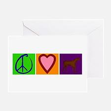 Peace Love Chocolate Labs - Greeting Card