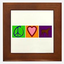 Peace Love Chocolate Labs - Framed Tile