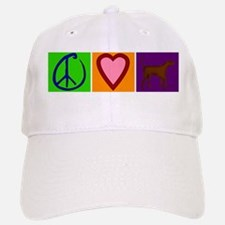 Peace Love Chocolate Labs - Baseball Baseball Cap