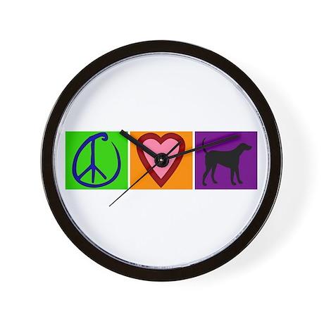 Peace Love Black Labs - Wall Clock