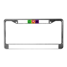 Peace Love Black Labs - License Plate Frame