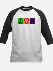Peace Love Black Labs - Kids Baseball Jersey