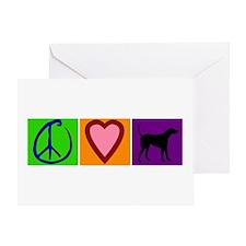 Peace Love Black Labs - Greeting Card