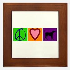 Peace Love Black Labs - Framed Tile
