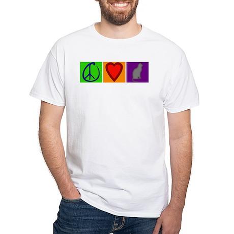 Peace Love Cats - White T-Shirt