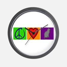 Peace Love Cats - Wall Clock