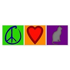 Peace Love Cats - Bumper Bumper Sticker