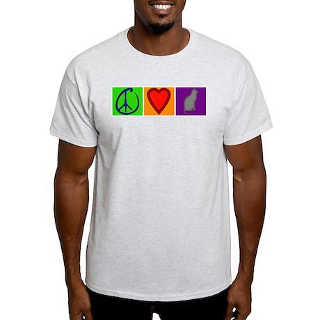 Peace Love Cats - Light T-Shirt