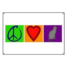 Peace Love Cats - Banner