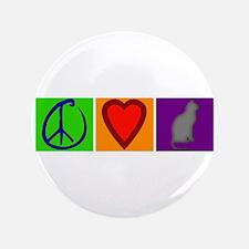 "Peace Love Cats - 3.5"" Button"