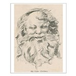 Old Father Christmas Small Poster