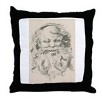 Old Father Christmas Throw Pillow