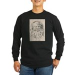 Old Father Christmas Long Sleeve Dark T-Shirt