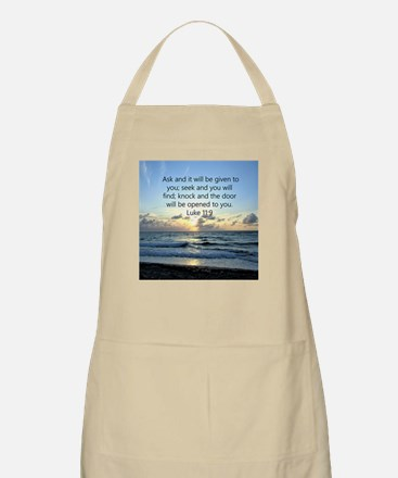 LUKE 11:9 Light Apron