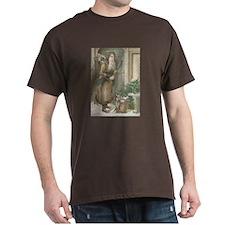St. Nick with Baskets Dark T-Shirt