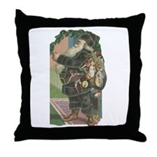 1882 Santa Throw Pillow