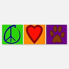 Peace Love Dogs - Bumper Sticker (10 pk)