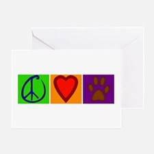 Peace Love Dogs - Greeting Card