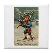 Merry Christmas Tile Coaster