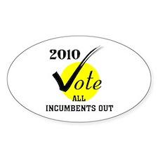 KICK THEM ALL OUT Oval Sticker (10 pk)