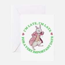 I'M LATE, I'M LATE Greeting Card