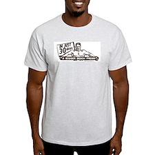 RETRO BENCH PRESS Ash Grey T-Shirt