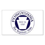Pennsylvania Rectangle Sticker