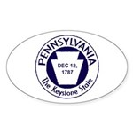 Pennsylvania Oval Sticker