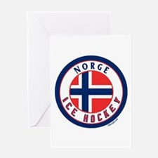 NO Norway/Norge Ice Hockey Greeting Card