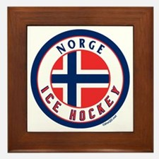 NO Norway/Norge Ice Hockey Framed Tile