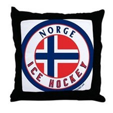 NO Norway/Norge Ice Hockey Throw Pillow