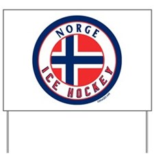 NO Norway/Norge Ice Hockey Yard Sign