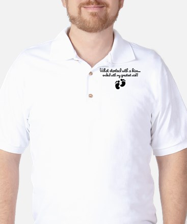Started With A Kiss Wish Golf Shirt