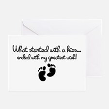 Started With A Kiss Wish Greeting Cards (Pk of 10)