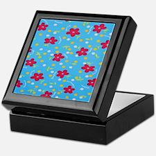 Blue Spring flowers Keepsake Box