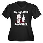 Designated Inebriate Women's Plus Size V-Neck Dark